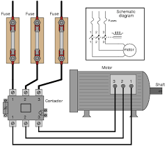 circuit shown direction control wiring circuit diagram wiring diagram symbols on examine this three phase motor control circuit where fuses protect