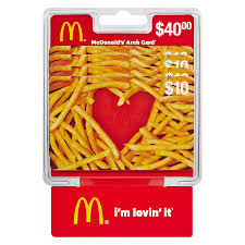 mcdonald s 4 pack 10 gift cards