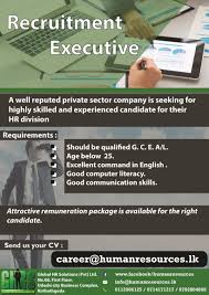 recruitment executive global jobs vacancies in sri lanka top best job site in sri lanka cv lk
