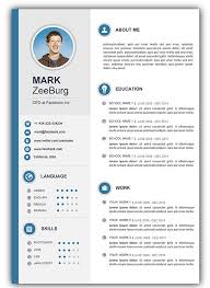Free Word Document Resume Template Free Download Word Cv Template