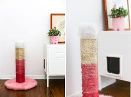 the brown ugly cat scratching posts diy one and make it pink