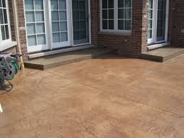stained concrete patio colors