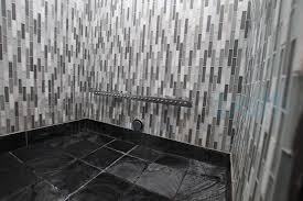 glass tile steam shower