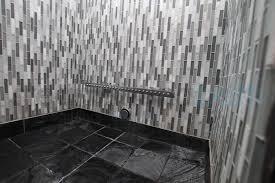 glass tile steam shower