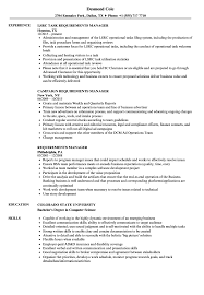 Requirements Manager Resume Samples Velvet Jobs
