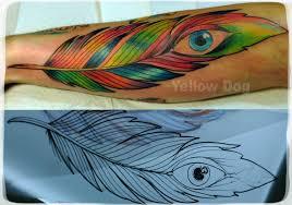 татуировка перо значение эскизы тату и фото