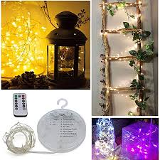 Timer 5m Lustreon Battery Powered 5m 10m 8 Modes Timer Ip67 Remote Control Hanging Led String Christmas Light