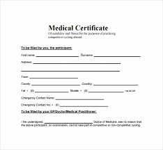 Medical Certificate Template Enchanting Medical Certificate Sample In Word Best Of Australian R For Medical