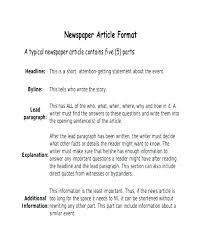 Newspaper Article Word Template Newspaper Template Free Word Documents Download Article