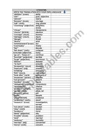 Synonyms And Antonyms Chart Esl Worksheet By Claversant