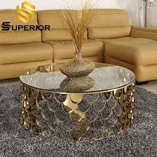 luxury home steel base gold round glass