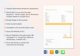Pages Invoice Template Proforma Invoice Template In Word Excel Apple Pages Numbers 24