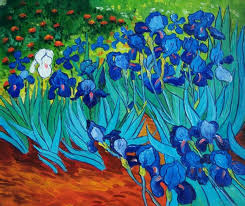 vincent van gogh oil painting 106 the irises abstract flowers