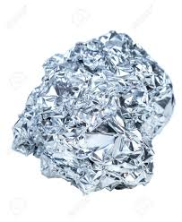 Crumpled Ball Of Aluminum Foil Isolated On White Background Stock Photo,  Picture And Royalty Free Image. Image 29225257.
