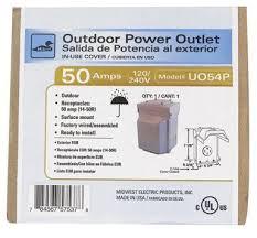 50 amp rv receptacle amazon com ge energy industrial solutions u054p midwest electric outdoor raintite receptacle enclosure 120 240v 50 amp