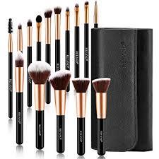 refand makeup brushes premium makeup brush set professional makeup kit with pu leather storage bag rose