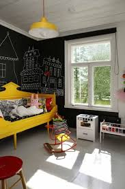 White And Yellow Kids Playroom Decor