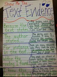 Text Evidence Anchor Chart Check Out The Blog For Lots Of