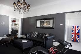 living room with black furniture. Furniture-modern-living-room-with-black-leather-chaise- Living Room With Black Furniture