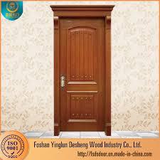 china desheng wooden steel double panel doors design in stan china wooden door mdf door