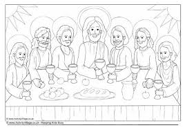 Small Picture The Last Supper Colouring Page