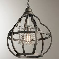 cage lighting pendants. quatrefoil cage and crystals pendant light lighting pendants e
