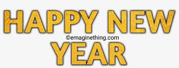 Happy New Year Text Png 2019-whatsapp Sticker,download - Tan ...