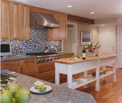 King Of Kitchen And Granite Birch Cabinets In Kitchen Eclectic With Kitchen Remodel Blue King