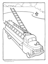 Small Picture Firetruck kid coloring page 015