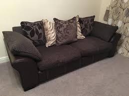 dfs martina sofa set brown leather fabric 4 seater 2 3 seater cuddler