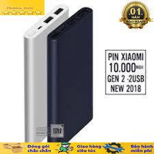 Pin sạc dự phòng Xiaomi 10000mAh hỗ trợ sạc nhanh Gen 2 2 cổng usb giá cạnh  tranh