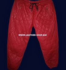 Leather Sweat Pants Diamond Stitch Style LSP111 & LEATHER SWEAT PANTS STYLE LSP111 QUILTED/DIAMOND STITCHING Adamdwight.com