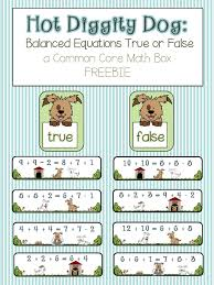 here s a set of materials for determining whether or not equations are balanced includes a true and a false sorting mat twelve equation cards