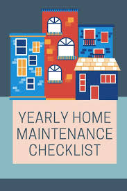 Yearly House Maintenance Buy Yearly Home Maintenance Checklist Home Owners Journal