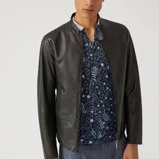 new emporio armani mens leather jacket