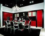 Дизайн кухни чёрно-красный