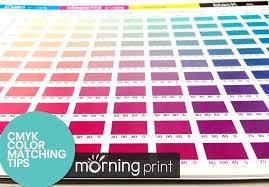 Printing Colour Chart Cmyk Offset Printing Color Matching Tips Printing Print