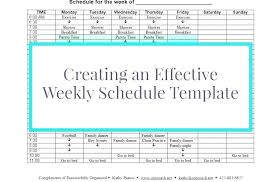 Weekly Calendar Template Excel Printable Schedule With Times Blank