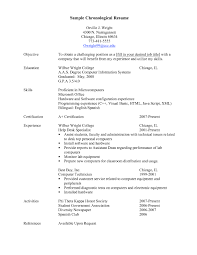 Chronological Resumes Free Resume Example And Writing Download