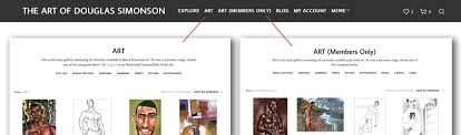 the gallery portion of the site is divided into 2 sections art which contains all g rated works and art members only which contains all male art