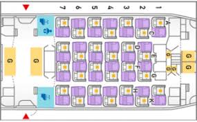 airline seat layout plans