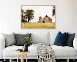 rustic barn landscape wall art country