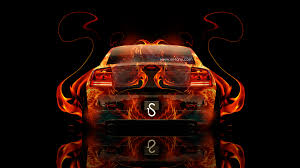 dodge charger srt back fire abstract car