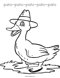 Small Picture Pato Coloring Page Coloring Coloring Pages
