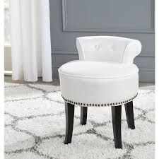 safavieh 22 8 in h white round makeup vanity stool at com