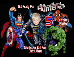 Personalized Superheroes Super Hero Personalized Photo Birthday Invitations 1 39