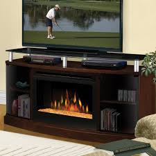 dimplex windham 53 inch electric fireplace media console glass embers mocha dfp25