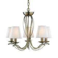 searchlight andretti 5 light chandelier antique brass lighting direct