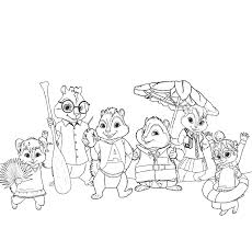 alvin and the chipmunks animated coloring page printable alvin and the chipmunks animated