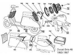 ducati scooter a s italian classic ducati scooter parts diagram